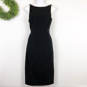 Express || Cream Trim Little Black Dress 11/12